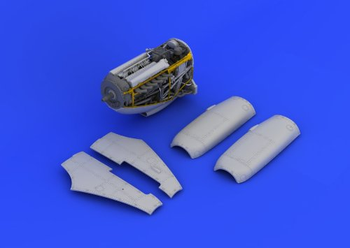 EDU648112 1:48 Eduard Brassin Spitfire Mk IX エンジン セット (for use with the Eduard model kit) MODEL キット アクセサリー (海外取寄せ品)
