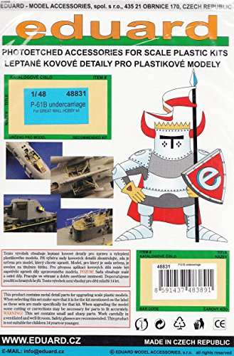EDU48831 1:48 Eduard PE - P-61B ブラック Widow Undercarriage Detail セット (for use with the グレート ウォール Hobby model kit) [MODEL キット ACCESSORY] (海外取寄せ品)