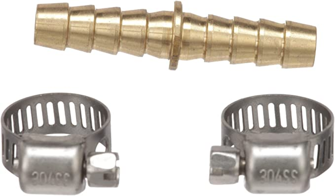 attwood 11823-6 Inline Fuel Hose Splice キット, 5/16-インチ Hose Mender, Brass, インクルーズ 2 ステンレス スチール Hose Clamps (海外取寄せ品)