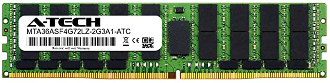 - MTA36ASF4G72LZ-2G3A1 32GB PC4-19200 - Server シングル メモリ A-テク リプレイスメント (海外取寄せ品) memory Reduced ECC LRDIMM for 1.2v Load (MTA36ASF4G72LZ-2G3A1-ATC) Micron 2400MHz スティック Ram DDR4 2rx4