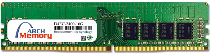 16 for ECC PC4-19200 RAM Arch メモリ UDIMM DDR4-2400 リプレイスメント memory RS3618xs (海外取寄せ品) for GB 288-ピン Synology D4EC-2400-16G