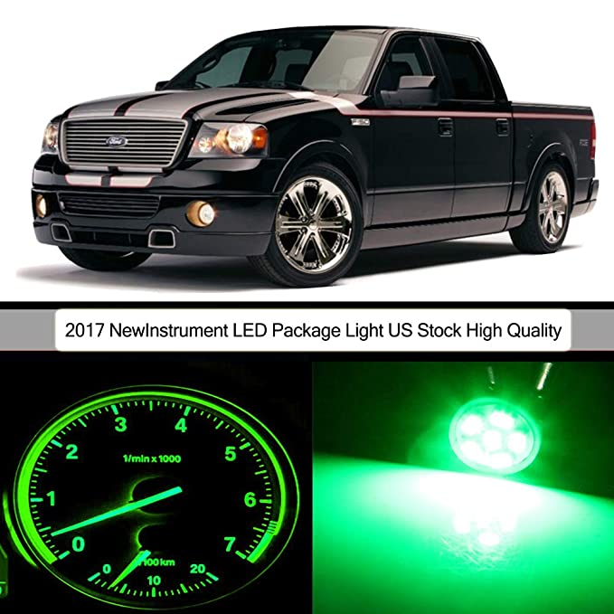 cciyu 38pack グリーン Instrument ゲージ Cluster Light+ Climate Control LED キット 高品質 1987-1996 Ford for F-150 Light 買収 フィット 海外取寄せ品 リプレイスメント