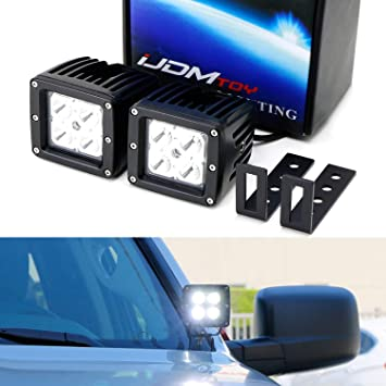 iJDMTOY Complete 40W ハイ Power CREE LED Pod Light キット w Windshield A-Pillar Mounting Wiring Silverado Colorado Chevy Canyon リレー 海外取寄せ品 Sierra Brackets ランキングTOP5 2015-up For GMC 引き出物 Switch