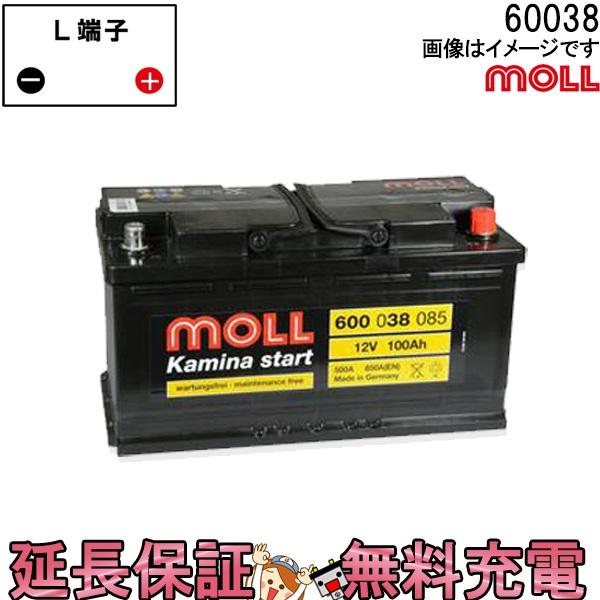 60038 自動車 バッテリー モル 交換 MOLL 欧州車 外車 Kamina