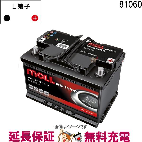 81060 自動車 バッテリー モル 交換 MOLL 欧州車 AGM アイドリングストップ