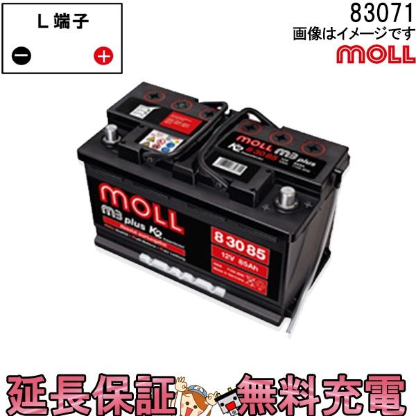 キャッシュレス5%還元 83071 自動車 バッテリー モル 交換 MOLL 欧州車 外車 M3 Plus