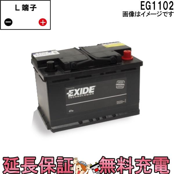 キャッシュレス5%還元 EG1102 EXIDEエキサイド EURO WETシリーズ