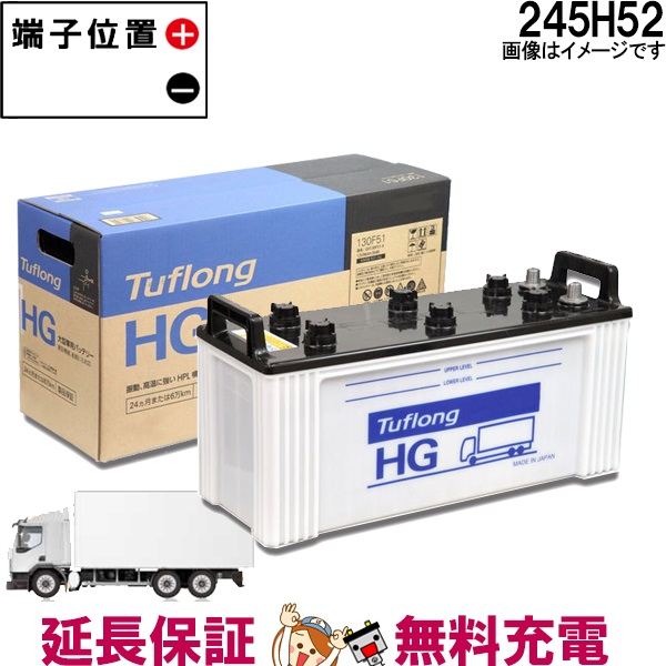 キャッシュレス5%還元 24ヶ月保証付 GH245H52 日立 ( 日立化成 ) 大型車 トラック バス 自動車 用 Tuflong GH バッテリー 互換: 210H52 / 225H52 / 245H52