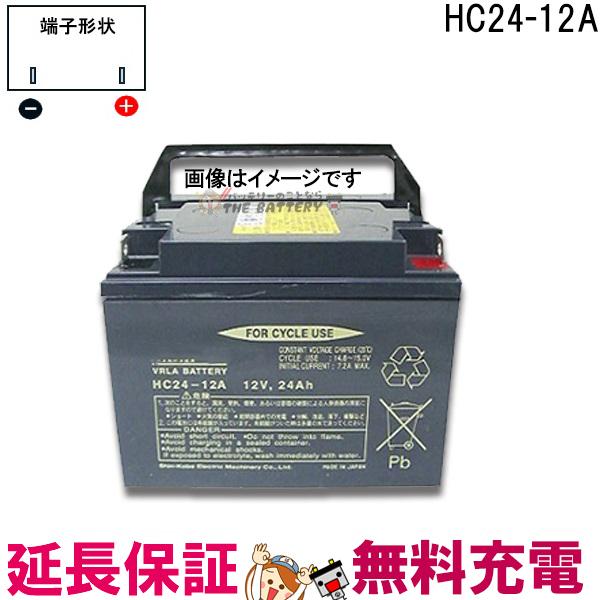 安心の正規品 12ヶ月保証付 HC24-12A セニアカー 車椅子 バッテリー 日立 サイクルバッテリー 互換 SC24-12 SER24-12 WP26-12NE