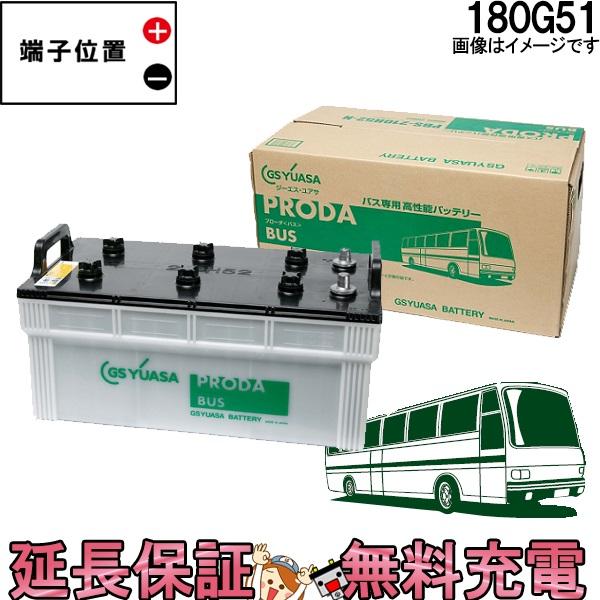 キャッシュレス5%還元 安心の正規品 12ヶ月保証付 180G51 ジーエス・ユアサ プローダ・バス シリーズ GS/YUASAバッテリー 互換:145G51 / 155G51 / 165G51 / 180G51