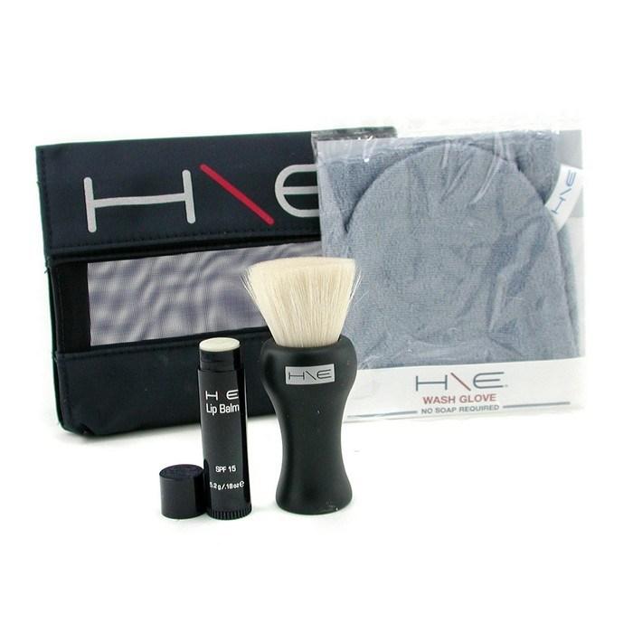 Jane IredaleH\E Minerals Kit: Lip Balm SPF 15 + Facial Brush + Wash Glove + Bagジェーンアイルデールミネラルキット: リップバーム SPF 【海外直送】