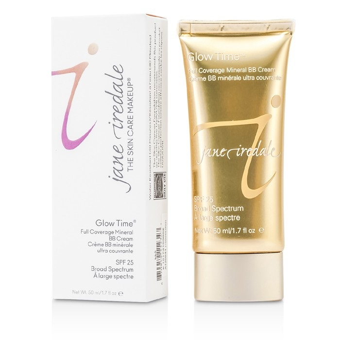 Jane Iredale Glow Time Full Coverage Mineral BB Cream SPF 25 - BB5 ジェーンアイルデール グロータイム ミネラルBBクリーム SPF25 PA++ - 【海外直送】