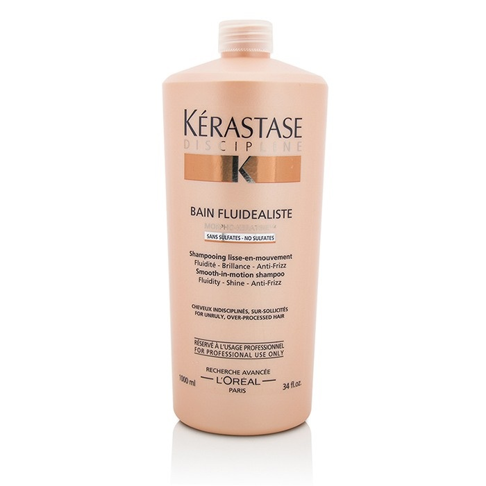 KerastaseDiscipline Bain Fluidealiste Smooth-In-Motion Sulfate Free Shampoo - For Unruly Over-Processed Hairケラスタ【海外直送】