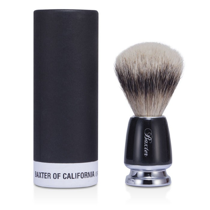 Baxter Of CaliforniaBaxter Badger Hair Shave Brush - Silver Tip (Black)バクスターオブカリフォルニアバクスター バッジャー ヘア シェーブ ブラシ 【海外直送】