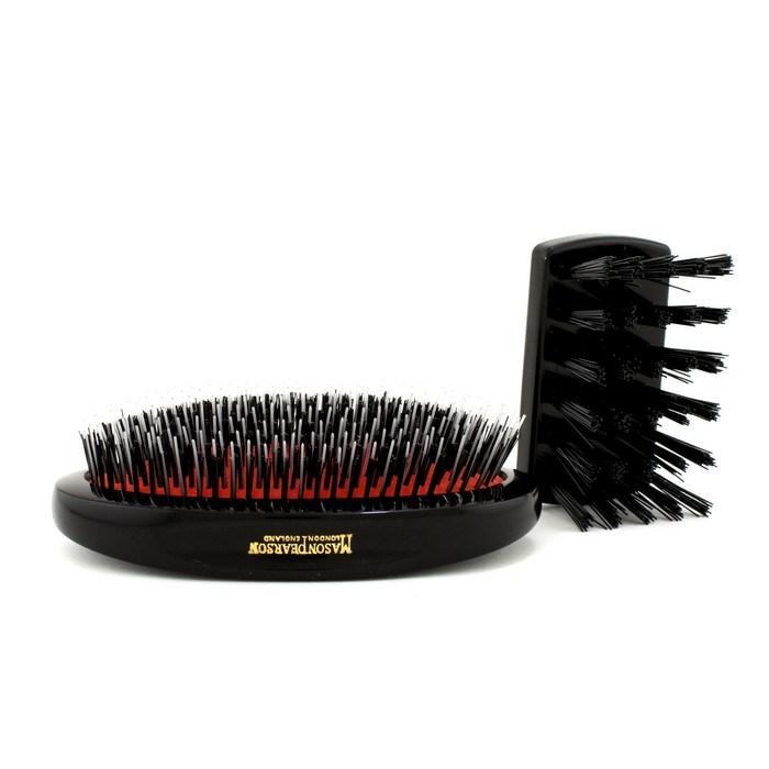 Mason PearsonBoar Bristle & Nylon - Medium Junior Military Nylon & Bristle Hair Brush (Dark Ruby)メイソンピアソン猪毛&ナ【海外直送】