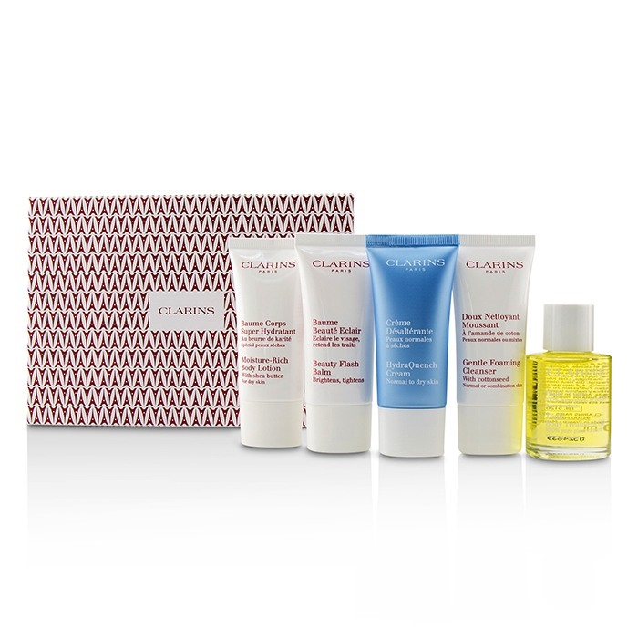Clarins Box: French Beauty Box: 1x Cleanser 30ml, 1x Treatment HydraQuench Cream Cream 30ml, 1x Beauty Flash Balm 30ml, 1x Body Treatment【海外直送】, 大将もビックリ!SCB:b17b60e0 --- officewill.xsrv.jp