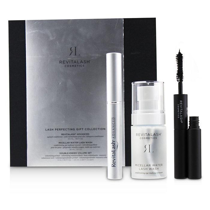 RevitaLash Lash Perfecting Gift Collection : ( 1x Eyelash Conditioner, 1x Conditioning Eye Makeup Remover, 1x Volumi 【海外直送】