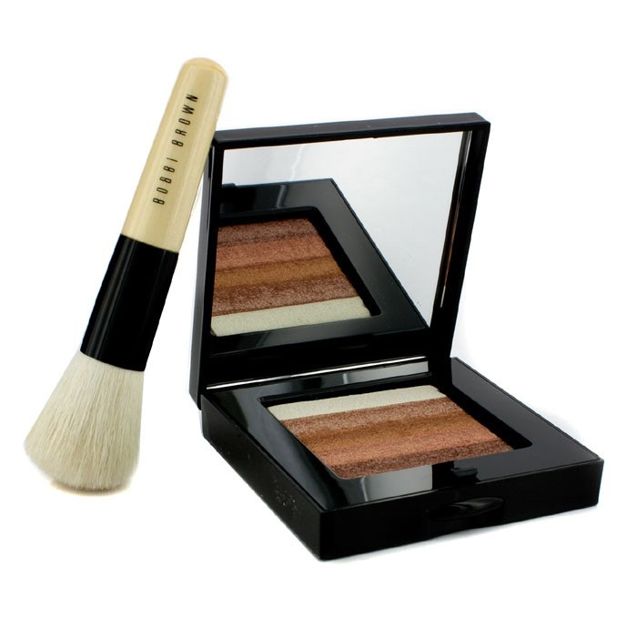 Bobbi Brown Bronze Shimmer Brick Set: Bronze Shimmer Brick Compact + Mini Face Blender Brush (Limited Edition) ボ 【海外直送】