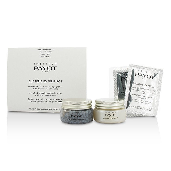 PayotSupreme Experience Set: Gommage Perles 30g/1.05oz + Baume Fondant 30g/1.05oz + Masque Crystal 10applications【海外直送】