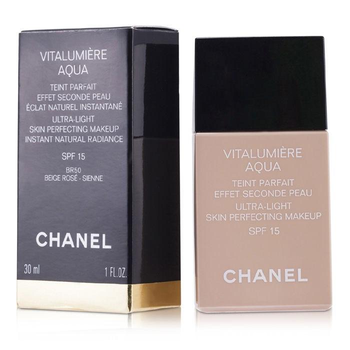 Chanel Vitalumiere Aqua Ultra Light Skin Perfecting M/U SPF15 - # 52 Beige Rose シャネル ヴィタルミエール アクア SPF 15 - # 【海外直送】