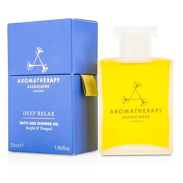 Aromatherapy Associates Relax - Deep Relax Bath & Shower Oil アロマセラピー アソシエイツ リラックス - ディープリラックス バス&シャワーオイル 55m 【海外直送】