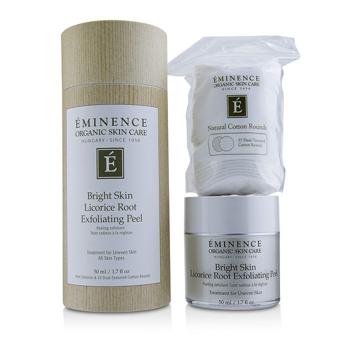 EminenceBright Root Skin Licorice Root Exfoliating Peel Peel (with 35 Dual-Textured EminenceBright Cotton Rounds)エミネンスBright Skin Lico【海外直送】, 高尾野町:39173e0c --- officewill.xsrv.jp