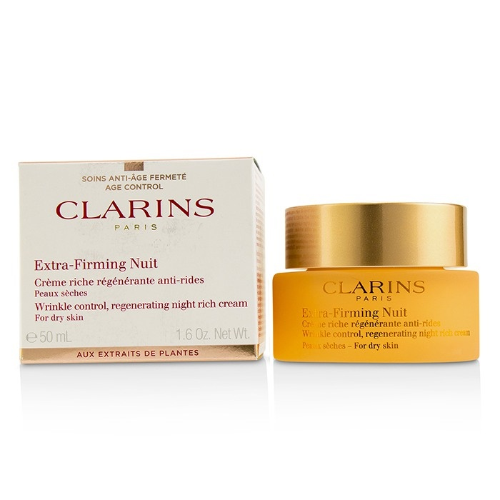 ClarinsExtra-Firming Nuit Wrinkle Control Regenerating Night Rich Cream - For Dry SkinクラランスExtra-Firming Nui【海外直送】