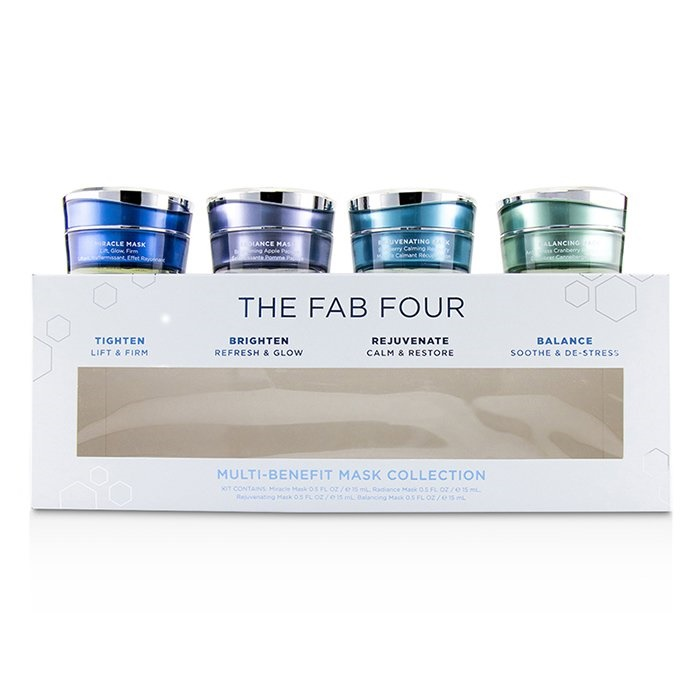 HydroPeptide The Fab Four Multi-Benefit Mask Collection: Miracle Mask + Radiance Mask + Rejuvenating Mask + Balancin 【海外直送】
