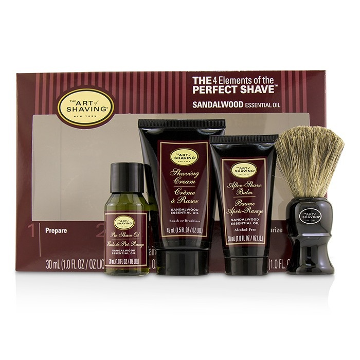 The Art Of ShavingThe 4 Elements of the Perfect Shave Mid-Size Kit - SandalwoodアートオブシェービングThe 4 Elements of t【海外直送】