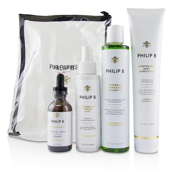 Philip BFour Step Hair & Scalp Treatment Set - # Classic formula (All Hair Types)フィリップ BFour Step Hair & Scal【海外直送】