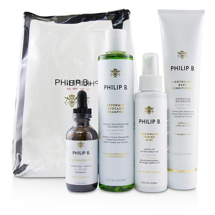 Philip BFour Step Hair & Scalp Treatment Set - # Paraben-Free Formula (All Hair Types)フィリップ BFour Step Hair &【海外直送】