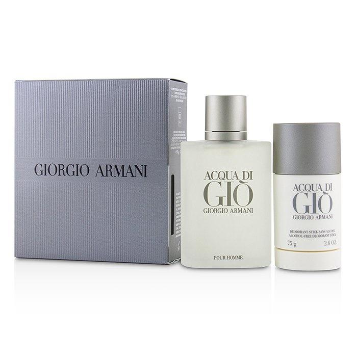 Giorgio ArmaniAcqua Di Gio Coffret: Eau De Toilette Spray 100ml/3.4oz + Alcohol-Free Deodorant Stick 75ml/2.6ozジョ【海外直送】
