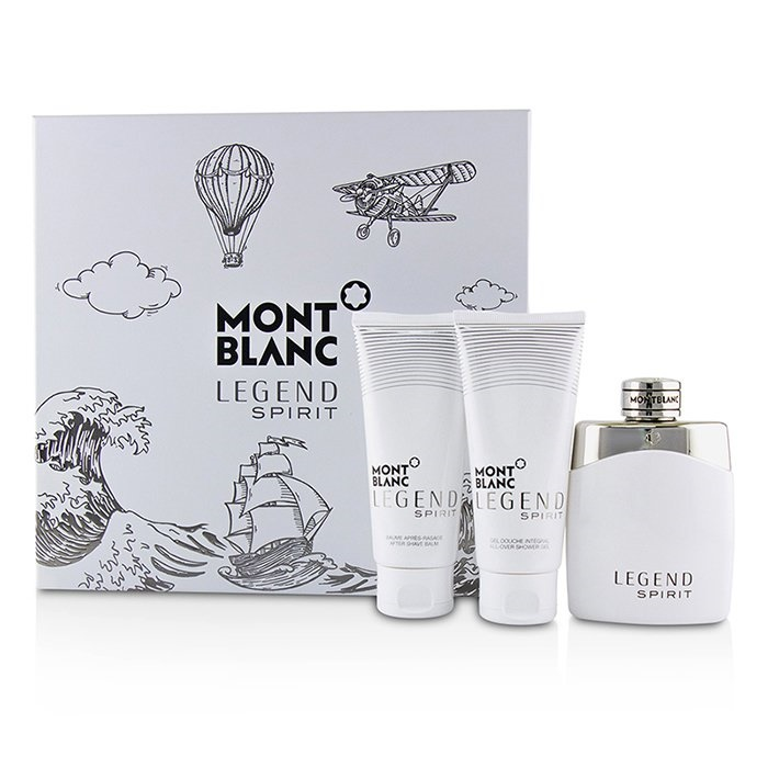 MontblancLegend Spirit Coffret: Eau De Toilette Spray 100ml/3.3oz + After-Shave Balm 100ml/3.3oz + All-Over Shower Ge【海外直送】