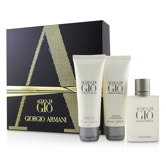 Giorgio ArmaniAcqua Di Gio Coffret: Eau De Toilette Spray 50ml/1.7oz + All Over Body Shampoo 75ml/2.5oz + After Shave【海外直送】