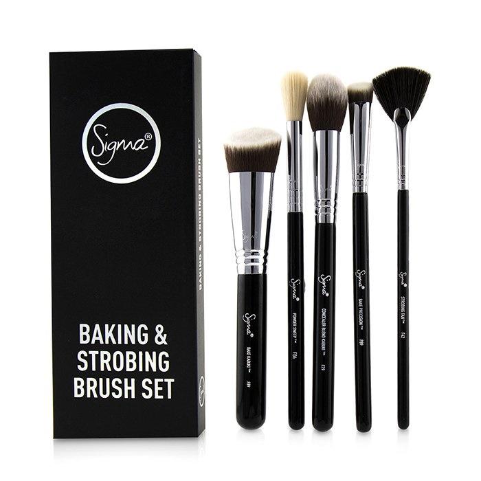 Sigma Beauty Baking & Strobing Brush Set シグマ ビューティ Baking & Strobing Brush Set 5pcs 【海外直送】