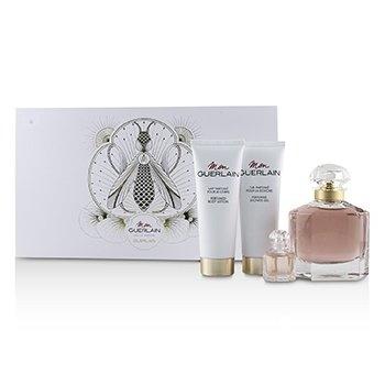 Guerlain Mon Guerlain Coffret: Eau De Parfum Spray 100ml +Perfumed Body Lotion 75ml+ Perfumed Shower Gel 75ml+Eau De 【海外直送】