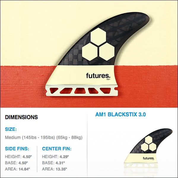 フューチャーフィン FUTURE FIN AM1 Blackstixモデル発売! Futures Fins AM1 Blackstix