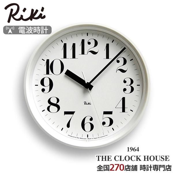 【ポイント最大57倍&最大2000円OFFクーポン】リキ スチール クロック 電波 掛時計 ホワイト シンプル RIKI STEEL CLOCK WR08-25WH アラビア数字