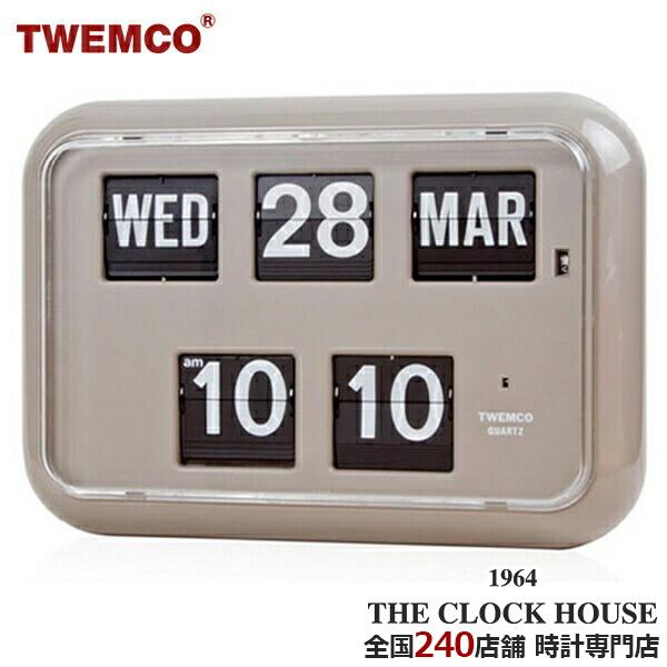 QD-35GRAY 全国250店舗サポート対応 セール開催中最短即日発送 正規品 時計専門店 正規販売店 ポイント10倍 掛け時計 置き時計 レビュー特典あり ポイント最大56.5倍 トゥエンコ TWEMCO 最大2000円OFFクーポン グレー 人気の製品 フリップクロック QD-35 掛置兼用 パタパタ時計 パーペチュアルカレンダー