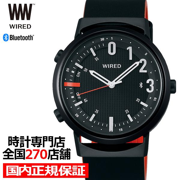 【ポイント最大51倍&最大2000円OFFクーポン】セイコー ワイアード ツーダブ WW タイムコネクト AGAB409 メンズ 腕時計 クオーツ ブラック Bluetooth