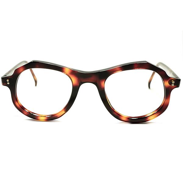 新視点 ARTHUR MILLER似 GOOD SIZE 秀逸 COOL個体 1950sフランス製 FRAME FRANCE デッドストック UPPER BRIDGE 奇形 PANTO フレンチ ビンテージ 眼鏡 クラウンパント メガネ a5179