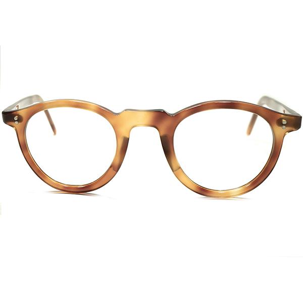 極限BASIC&SIMPLE 実用的個体 1950s デッドストック FRAME FRANCE フランス製 鼈甲柄 PANTO ボストン フランス ビンテージ 眼鏡 アンティーク メガネ a5277