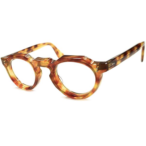 超人気モデル 国内未確認カラー &名作生地採用 超希少個体 1950s-1960s FRAME FRANCE フランス製 デッドストック 8mm厚 クラウンパントsize44/24 極美シルエット&快適フィット ヴィンテージメガネ 眼鏡 A5401