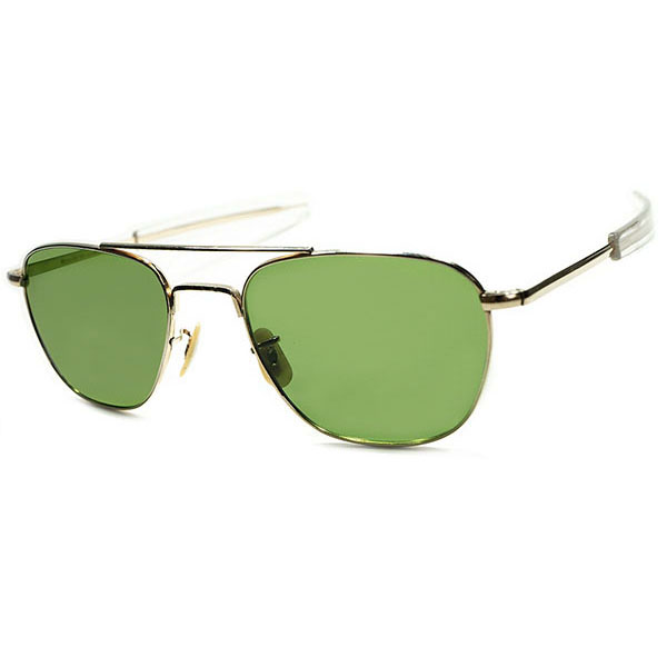 MILITARYサングラス史上別格 超希少メーカー製造 ミルスペック 1960s-70s WELSH.MFG.CO製 VIETNAM ERA 1/10 12KGF金張TAXI DRIVER AVITOR ビンテージヴィンテージ 眼鏡メガネ a5445
