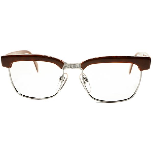 絶頂期 名作 ゲキ渋色 1960s-70s デッドストック 西ドイツ製RODENSTOCK ローデンストック ARNOLD オリジナル DEMI×1/20 12K 白金張 50/16 ビンテージヴィンテージ 眼鏡メガネ A5459