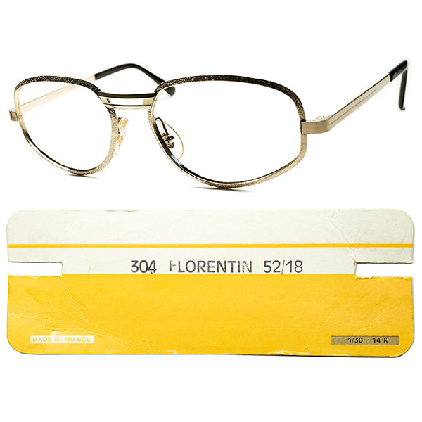 PREオールドスクールTASTE 60s-70sフランス製 デッドストック FRAME FRANCE フレーム フランス 凹凸 立体リム BROKEN歪形状 クラウンパント1/30 14K RGP ビンテージヴィンテージ 眼鏡メガネ a5475