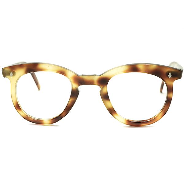 不可解ヒンジ形状 RARE&COOLデザイン 1950s デッドストック FRAME FRANCE フランス製 キーホール PANTO メガネa5516 フランス ビンテージ アンティーク 眼鏡