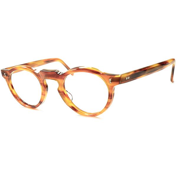 欧米人気カラー 超実用的SPEC フランス眼鏡代名詞 1950s-60sフランス製 デッドストックFRAME FRANCE キーホール PANTO ボストン 丸眼鏡 a5522 フレンチ ビンテージ メガネ