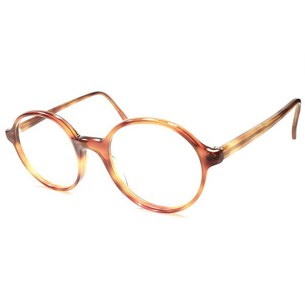 新鮮ダサ目テイスト BRITISHモダンビンテージ 1980s DEADSTOCK デッドストック 英国製 MADE IN ENGLAND ANGLO AMERICAN アングロアメリカン ボストン ラウンド 鼈甲柄 ビンテージヴィンテージ 眼鏡メガネ 丸メガネ 丸眼鏡 a5527