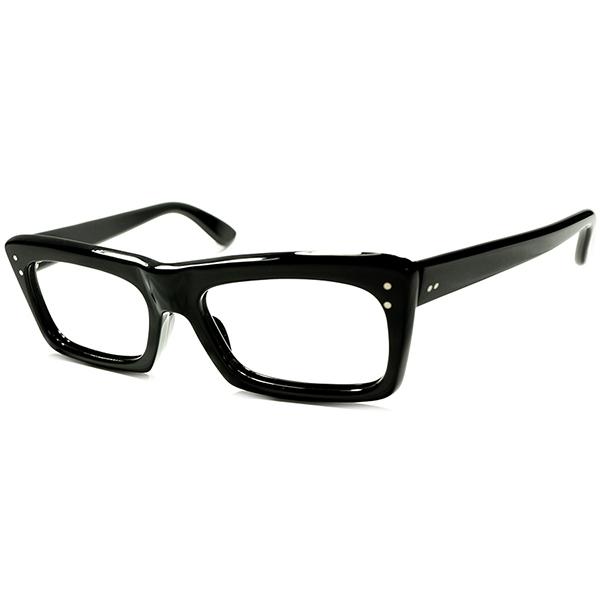 ブリティッシュモダンクラシック DANDY LOOK 1960s デッドストック DEADSTOCK 英国製高精度仕上げ 肉厚BLACKウェリントン a5530 ビンテージヴィンテージ 眼鏡メガネ